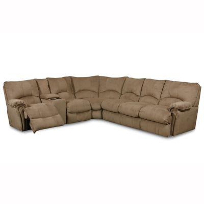Lane alpine reclining console sleeper sectional you for Lane sectional sleeper sofa