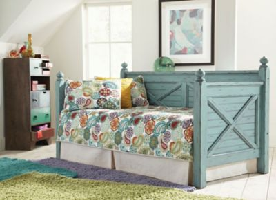 Largo Woodhaven Daybed In Blue With Free Mattress