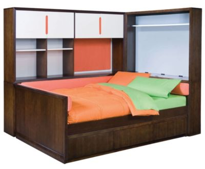 Teen Nick ''The Suite'' Daybed with Study Wall and Cabinet Headboard by ...