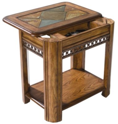 ... Sliding Top Chair Side Table. Mouse Over Image For A Closer Look.