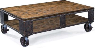 magnussen pinebrook wood rectangular cocktail table