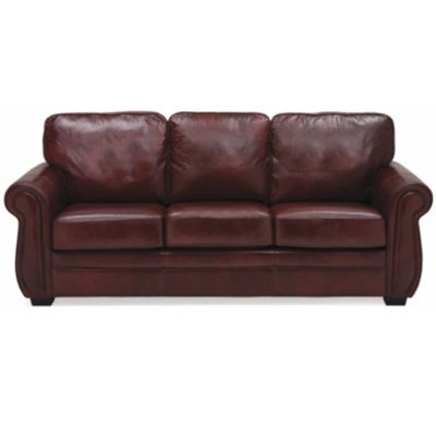 thompson hooker brown leather sofa