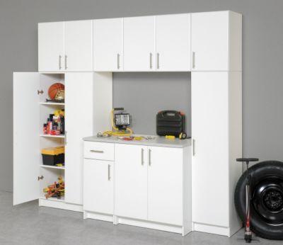 prepac elite garage laundry room 32 inch storage cabinet in white