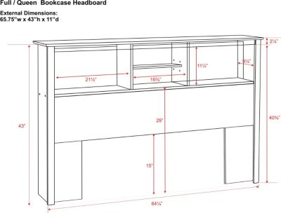 plans for bookcase headboard