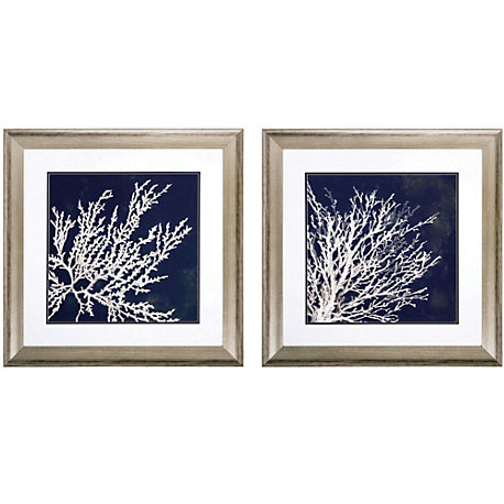 Wall Art Set Of 2 propac coastal coral i-ii wall art set of 2