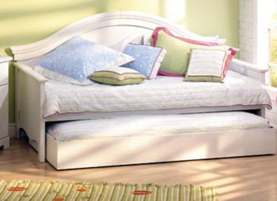 White   on Furniture   Daybeds   South Shore Summer Breeze Vanilla Daybed