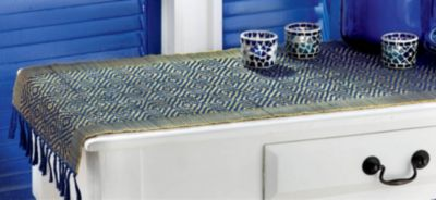 Weave runner Inch Runner Table Table table Runners 72 inch round  72  Diamond Blue TAG in table