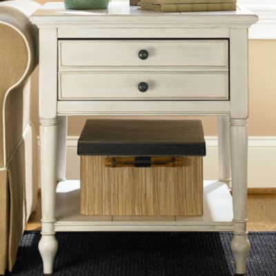 Universal Furniture Summer Hill End Table In Cotton