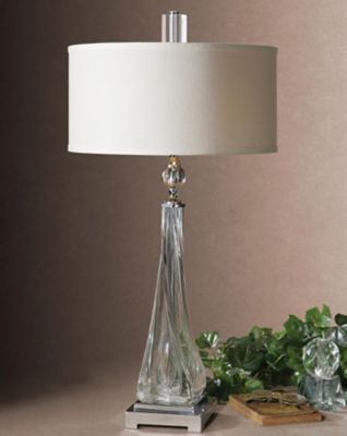 ... Uttermost Grancona Twisted Glass Table Lamp. Mouse Over Image For A  Closer Look.