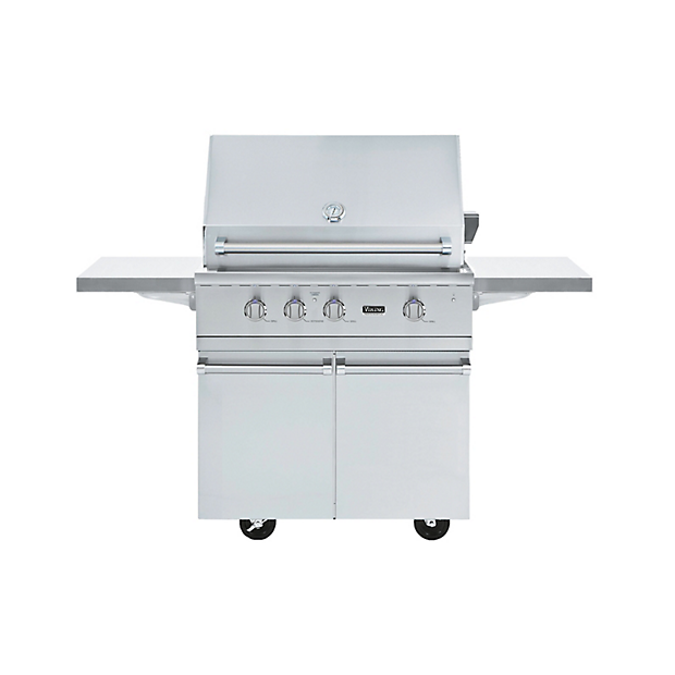 36 ultra premium gas grill cart bqc in stainless steel for Viking professional outdoor grill