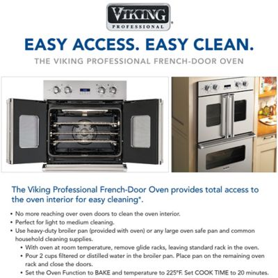 the viking frenchdoor oven provides total access to the oven interior for easy cleaning