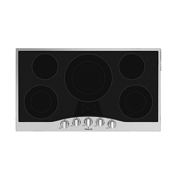 36 Electric Cooktop Rdecu In Stainless Steel Black