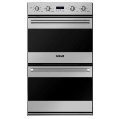 """30 w electric double oven rvdoe330 in stainless steel black and rh vikingrange com Viking Built in Ovens Viking 30"""" Double Ovens"""