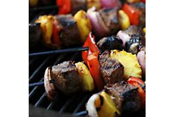 Grilled Sirloin and Peach Skewers