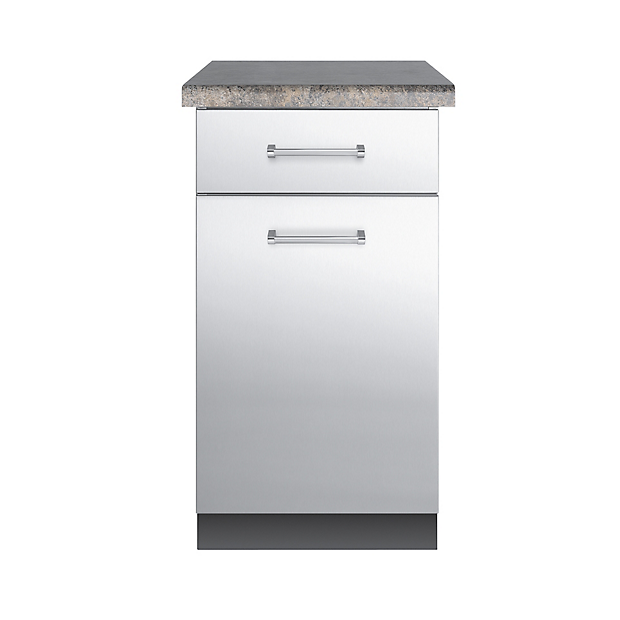 30 d base cabinet vbo1811 viking range llc for Stainless steel kitchen base cabinets