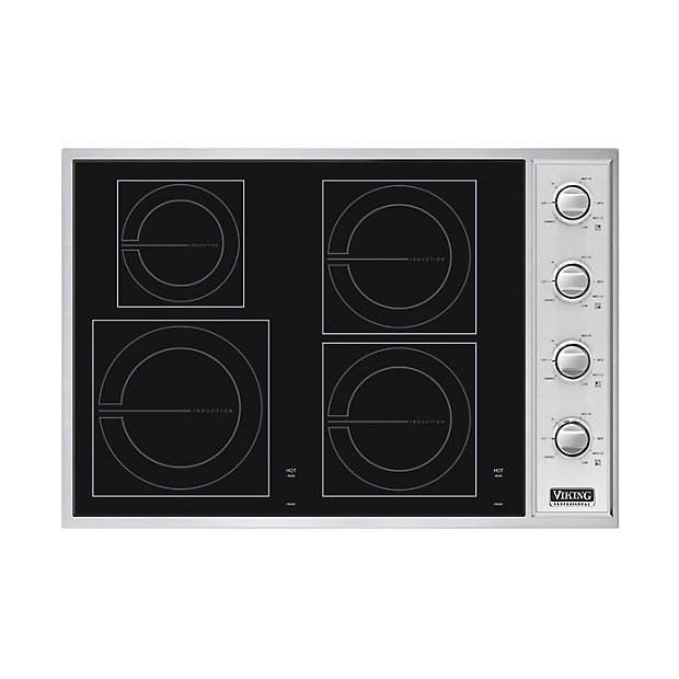 30 w all induction cooktop vicu206 in black viking for High end induction range