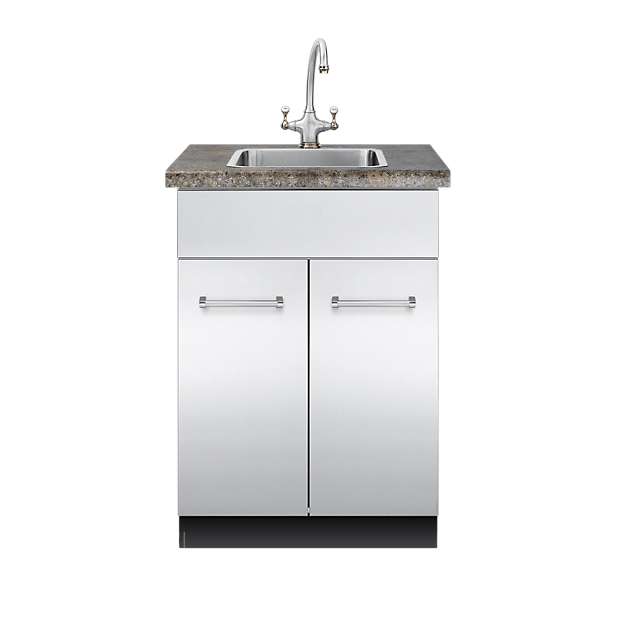 30 d sink base cabinet vsbo2402 viking range llc for Stainless steel kitchen base cabinets