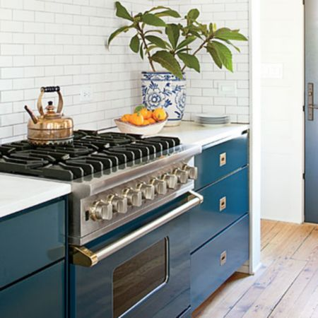 family friendly home update features a viking blue range
