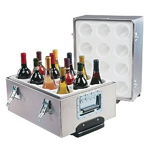 12-Bottle Aluminum Travel Wine Safe by Wine Enthusiast