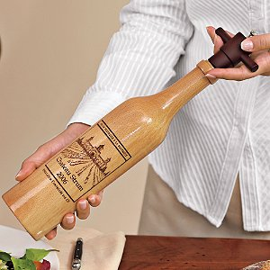 Personalized Wine Bottle Salt Mill