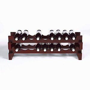 18 Bottle Stackable Wine Rack Kit (Mahogany) by Wine Enthusiast