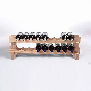 18 Bottle Stackable Wine Rack Kit (Natural) by Wine Enthusiast