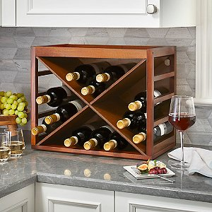 16 Bottle X Cube-Stack Wine Rack by Wine Enthusiast