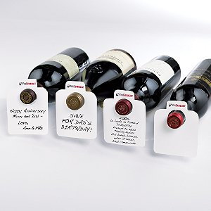 100 Oversized Reusable Wine Bottle Tags by Wine Enthusiast