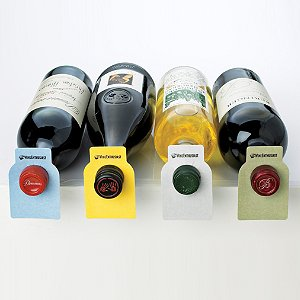 100 Wine Enthusiast Color Coded Wine Bottle Tags by Wine Enthusiast