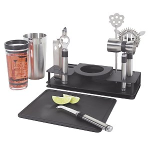 10-Piece Cocktail Making Set by Wine Enthusiast