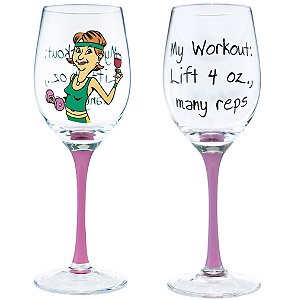 My Workout Party Girl Wine Glass by Wine Enthusiast