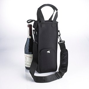 1 Bottle Neoprene Wine Tote Bag by Wine Enthusiast