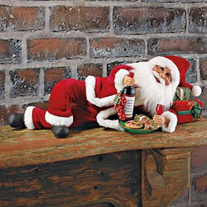 Wine and Cookies Santa