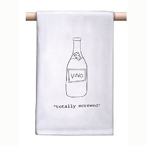 'Totally Screwed' Bar Towel