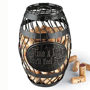 'Wine A Little' Wine Barrel Cork Catcher by Wine Enthusiast