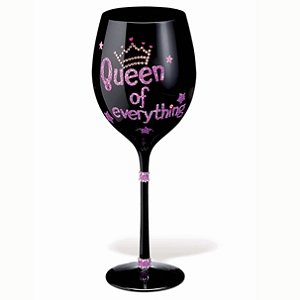 'Queen of Everything' Wine Glass by Wine Enthusiast