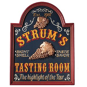 Personalized Tasting Room Sign