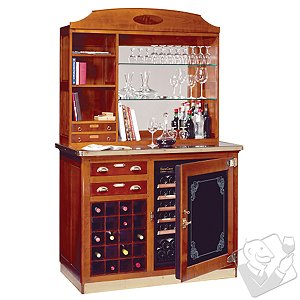 EuroCave Elite Wine Hutch with 20 Bottle Wine Rack