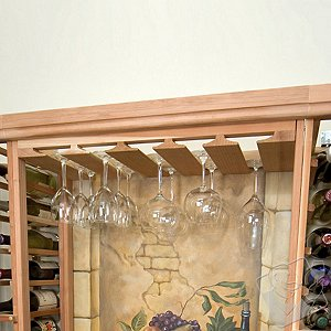 Designer Wine Rack Kit - Wine Glass Stemware Rack