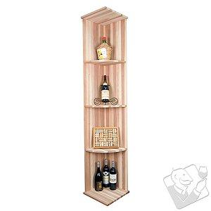 Designer Wine Rack Kit - Vertical Quarter Round Shelf Rack