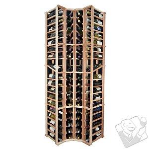 Designer Wine Rack Kit - 4 Column Curved Corner Wine Rack w/Display