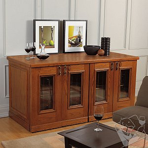 Vinotheque Monterrey 4 Door Credenza Wine Cellar (Double Depth) & Electric Wine Cellars vs. Wine Storage Cabinets and Credenzas