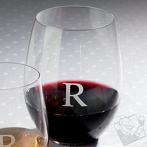 Personalized Riedel 'O' Cabernet/Merlot/Bordeaux Stemless Wine Glasses (Set of 2)