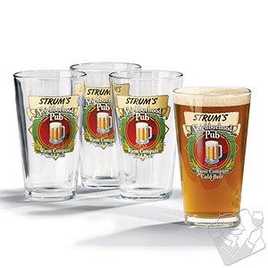 Personalized Neighborhood Beer Glasses (Set of 4)