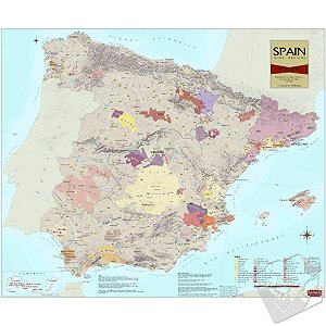 Wine Region Map of Spain