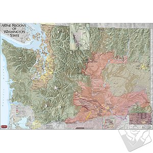 Wine Map of Washington