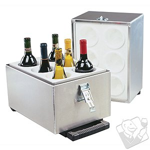 6-Bottle Aluminum Travel Wine Safe