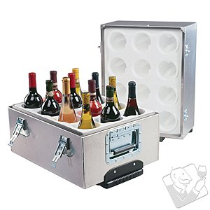 12-Bottle Aluminum Travel Wine Safe
