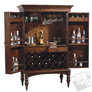 Howard Miller Cherry Hill Wine Serving Cabinet