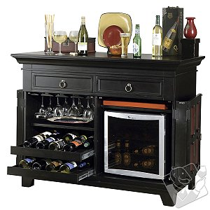 Howard Miller Rose Wine Console - Wine Enthusiast